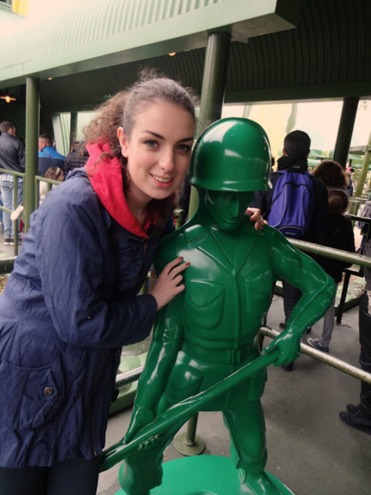 Me and one of Andy's toy soldiers | Disneyland Paris Trip