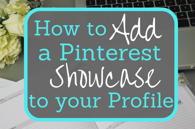 How to add a Pinterest Showcase/Slideshow to your Profile