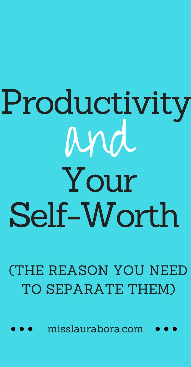 Do you find yourself feeling guilty if you don't get everything on your to-do list done that day? A lot of us nowadays tend to place a big emphasis on being productive and even go as far as linking our productivity to our self-worth and happiness. Read this post to see why you need to stop doing this. #bloggers #productivity