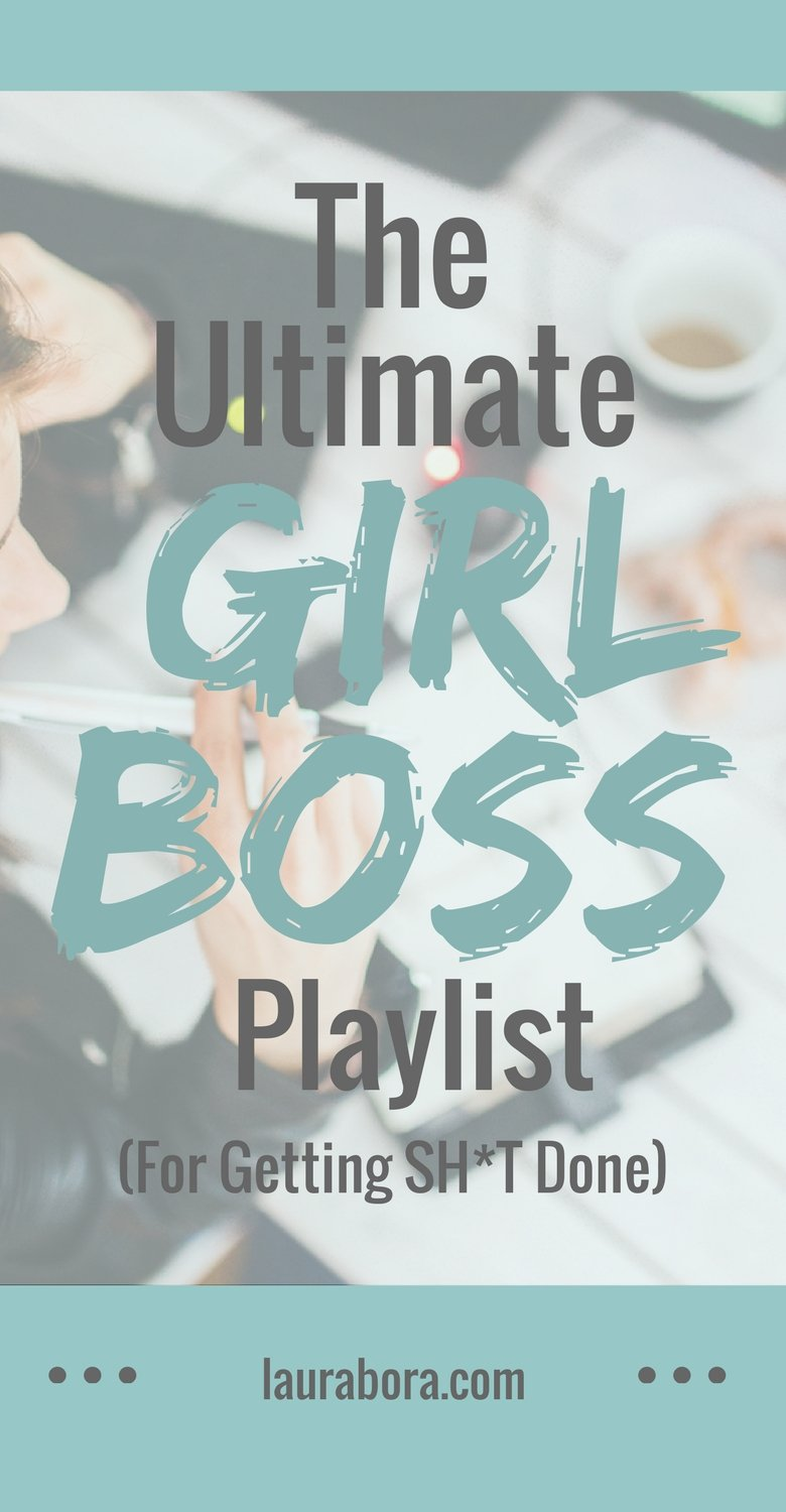 Need an upbeat, motivational playlist to motivate you to get tons of work done? If you are trying to boost your productivity, this music playlist will help you push through all the procrastination and any lulls when your determination fails. The Ultimate Girl Boss Playlist for getting sh*t done and being more productive. #productivity #girlboss #music #motivational #motivation
